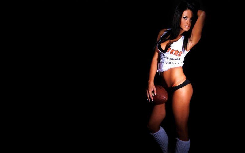 SENSUALITY - girl brunette ball american football wallpaper