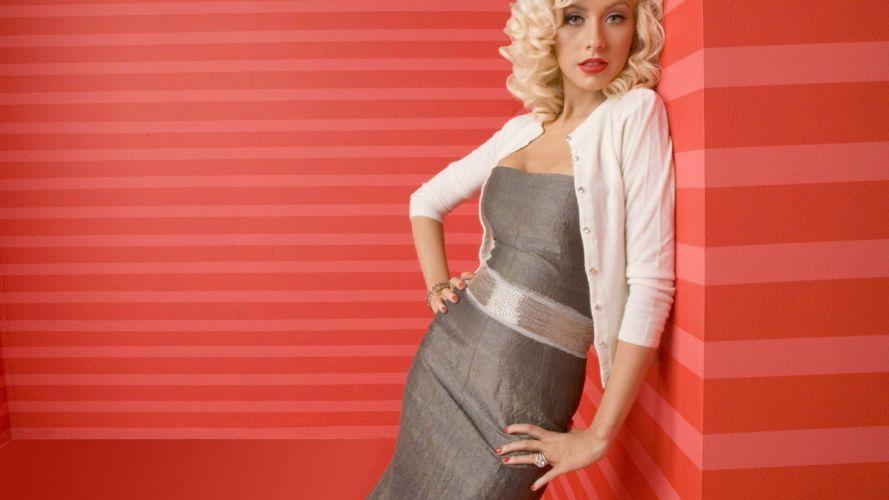 christina -aguilera-cantamte-mujer-rubia-celebridad-americana wallpaper