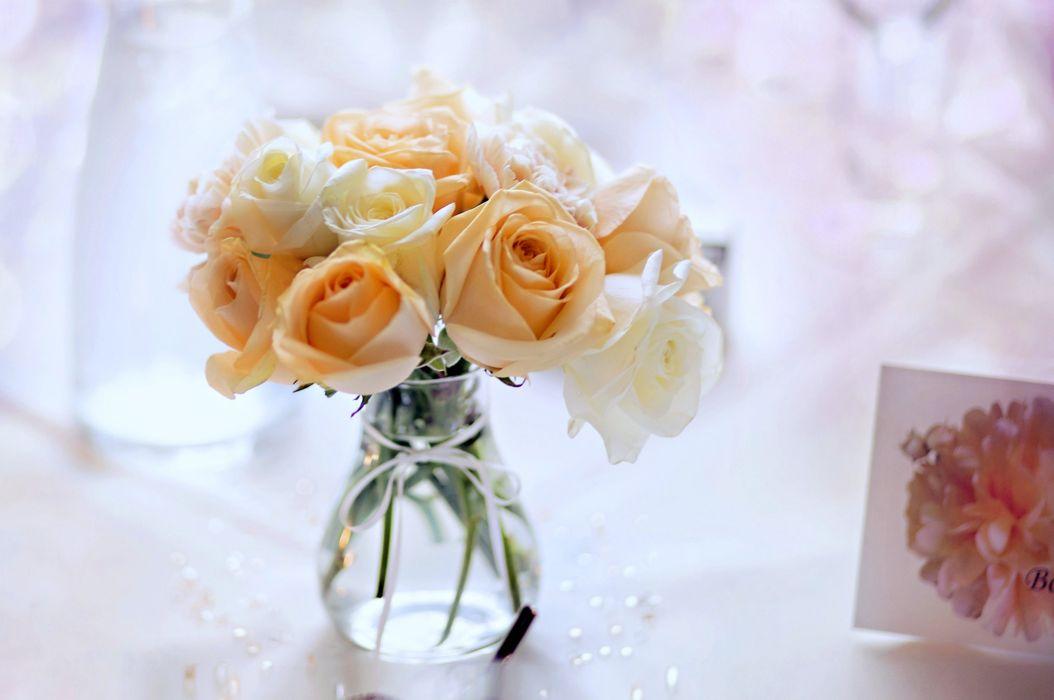 colors - emotions - Flowers - life - love - nature - perfume - petals - romance - roses - Spring - garden - buds - orange -yellow - vase - bouquet - card wallpaper