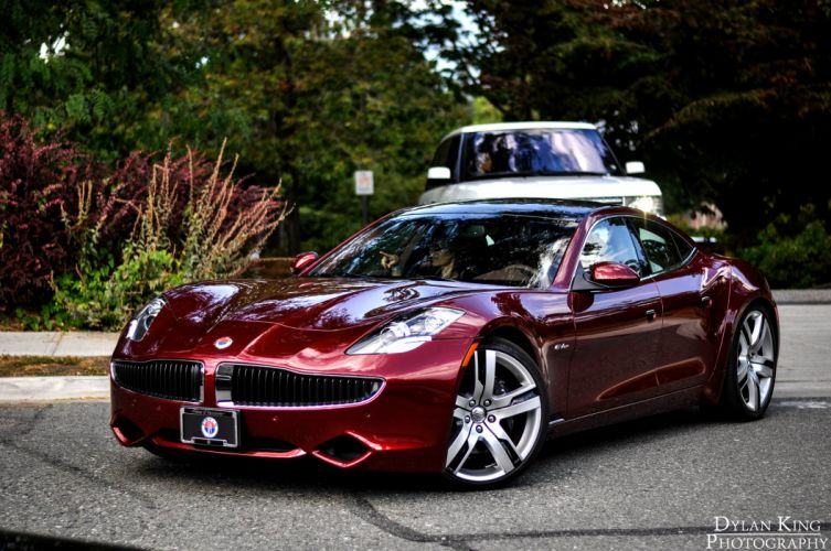 cars fisker karma coupe electric wallpaper