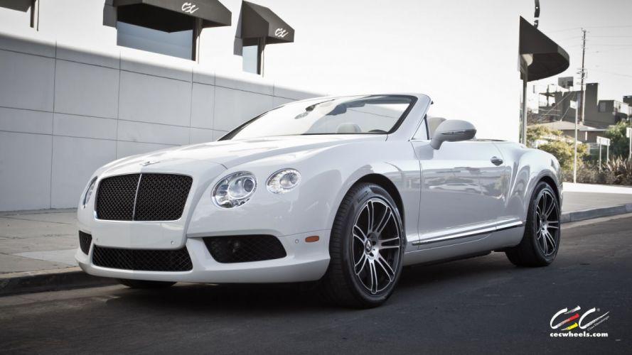 2015 cars CEC Tuning wheels Bentley Continental v8 gt convertible wallpaper