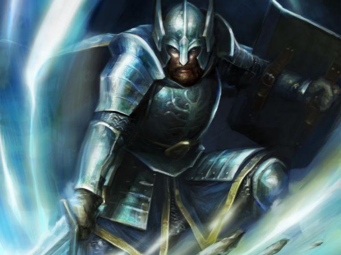 Warrior Men Guardians of Middle Earth Beregond Armor Helmet Games Fantasy lotr lord rings wallpaper