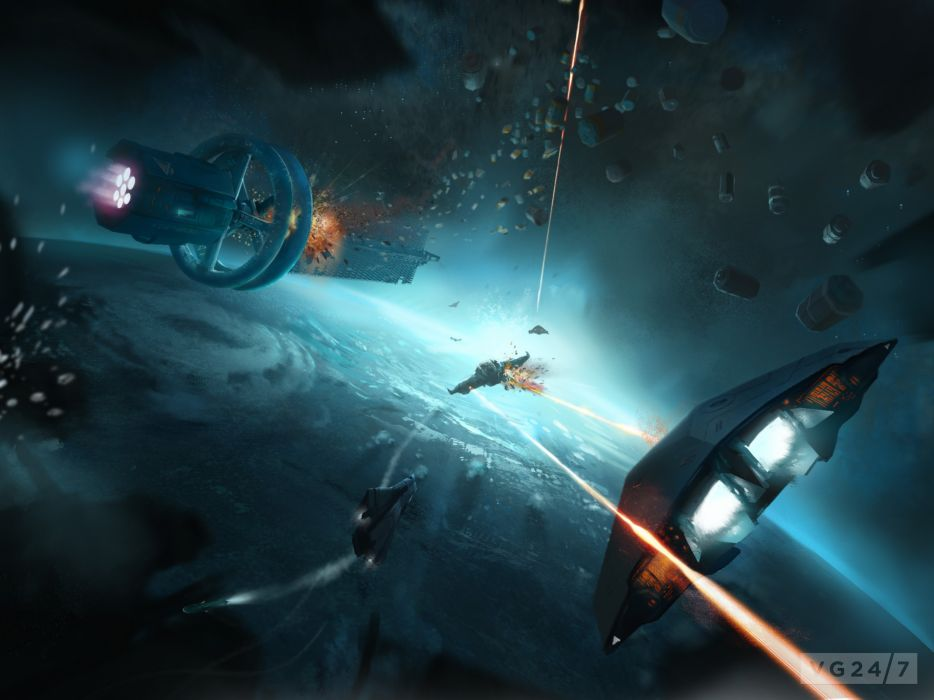 Battle Explosion Technics Fantasy Ship Elite Dangerous Games Fantasy Space spaceship wallpaper