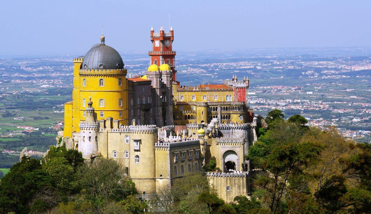 castillo-portugal-arquitectura-paisaje-ciudad wallpaper