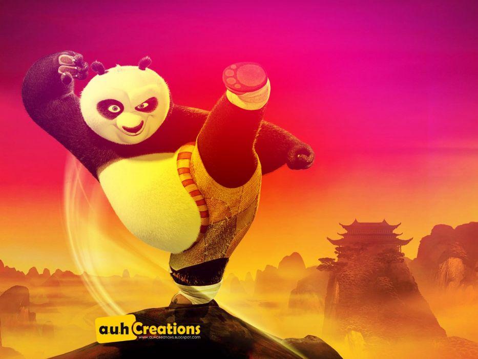 KUNG FU PANDA animation comedy family action adventure martial arts 1kfp bear wallpaper