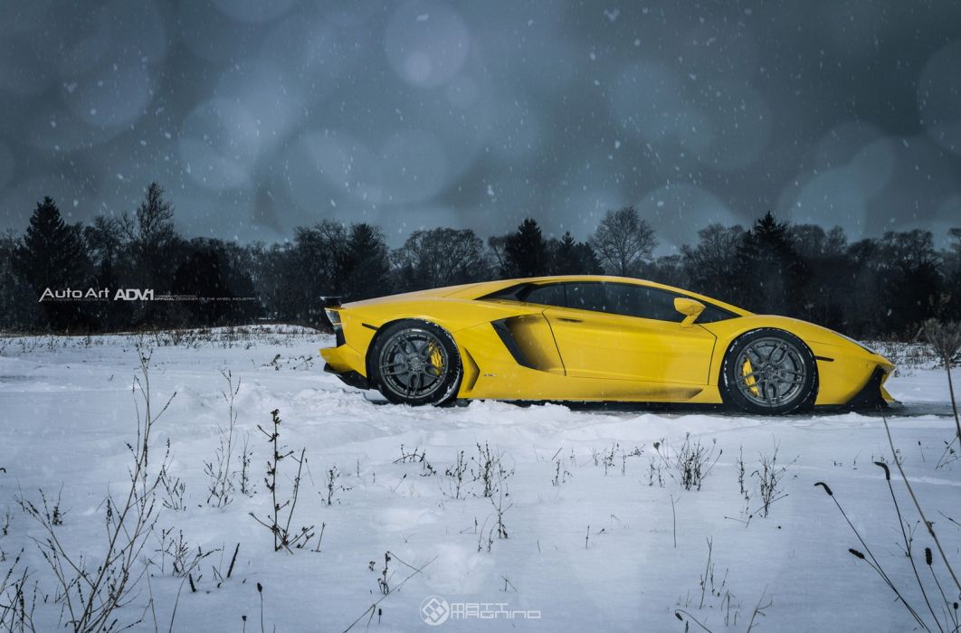 2015 ADV1 Lamborghini Aventador coupe supercars wheels tuning cars wallpaper