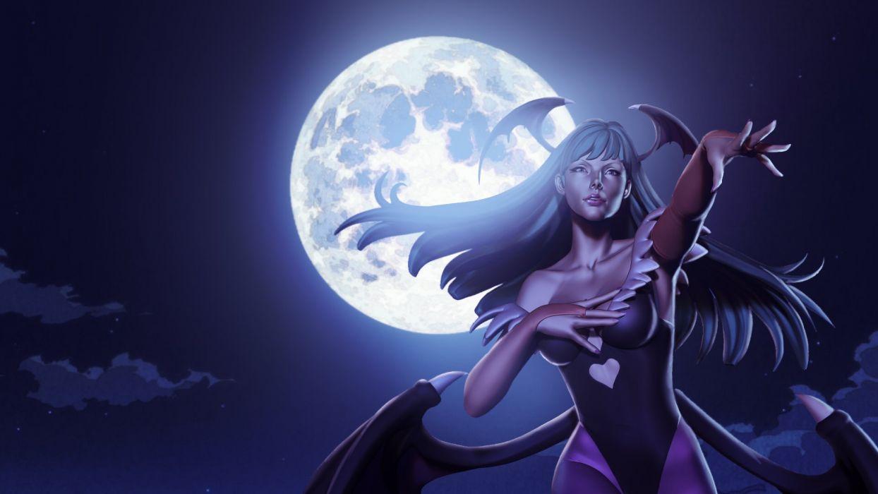 DARKSTALKERS Vanpaia Vampire fighting Capcom anime gothic fantasy comics dark 1darks wallpaper