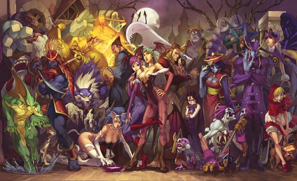 DARKSTALKERS Vanpaia Vampire fighting Capcom anime gothic fantasy comics dark 1darks wallpaper