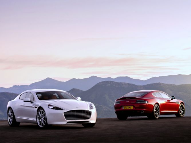 Aston Martin Rapide-S red white landscaps cars speed motors mountains supper wallpaper