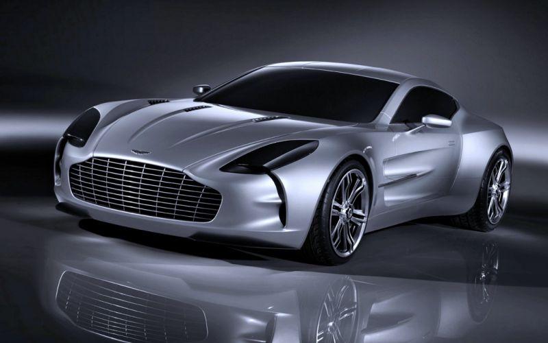 Aston Martin ONE 77 Silver gray speed super motors force cars wallpaper