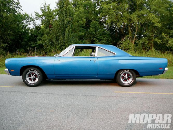 1968 classic muscle plymouth road runner wallpaper