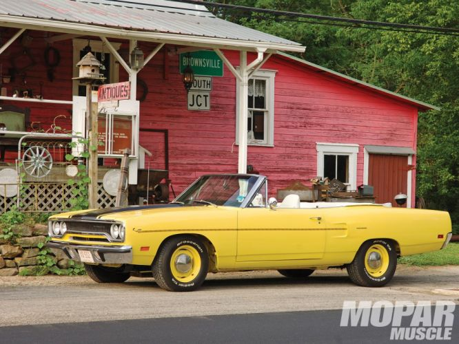 1970 classic muscle plymouth road runner convertible wallpaper