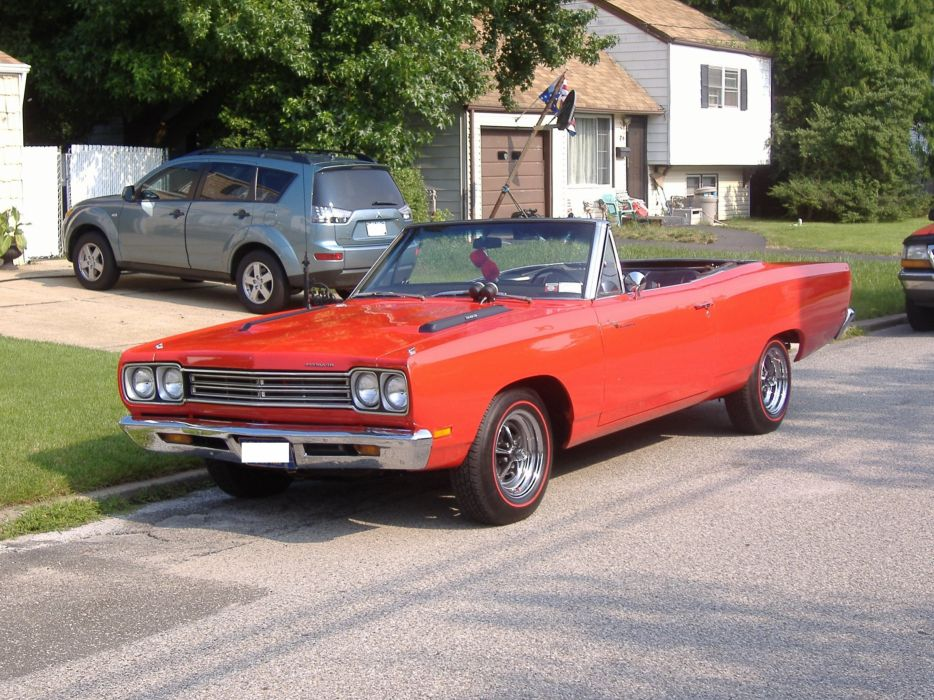 1969 classic muscle plymouth road runner convertible wallpaper