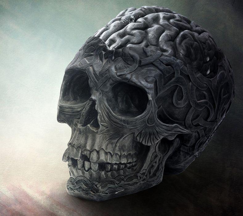 Brain Skull-wallpaper-10379522 wallpaper