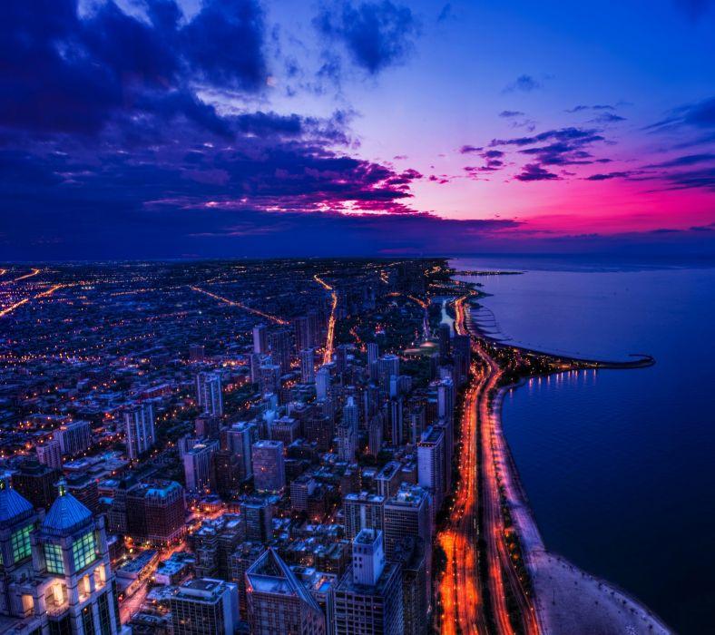 Chicago Sunset-wallpaper-10491784 wallpaper