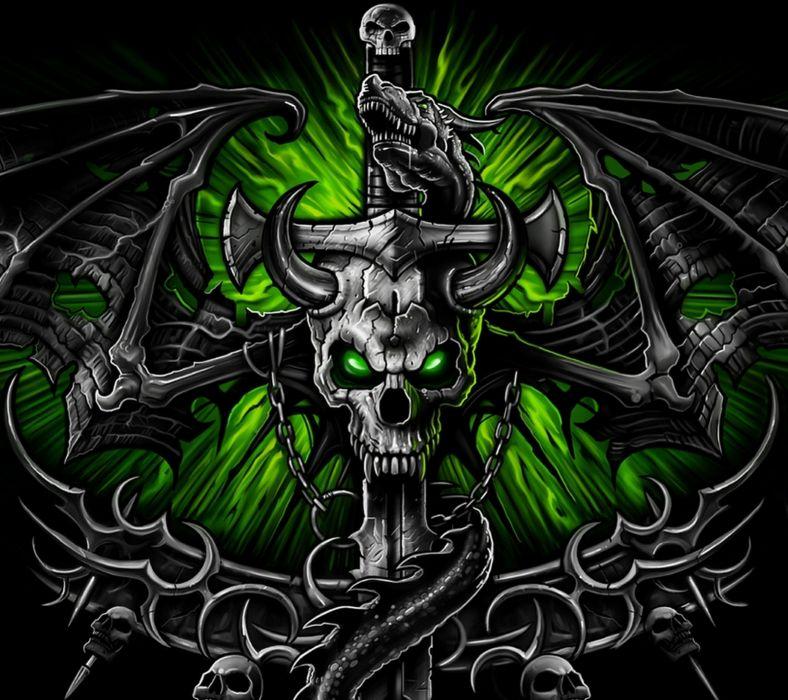 Green Skull-wallpaper-10387328 wallpaper