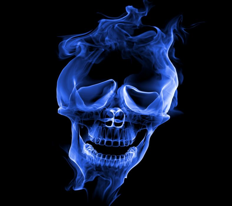 Smoke Skull-wallpaper-10398377 wallpaper