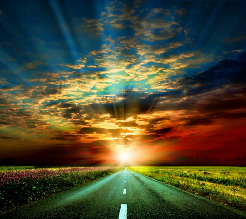 Sunset Road-wallpaper-10365401 wallpaper