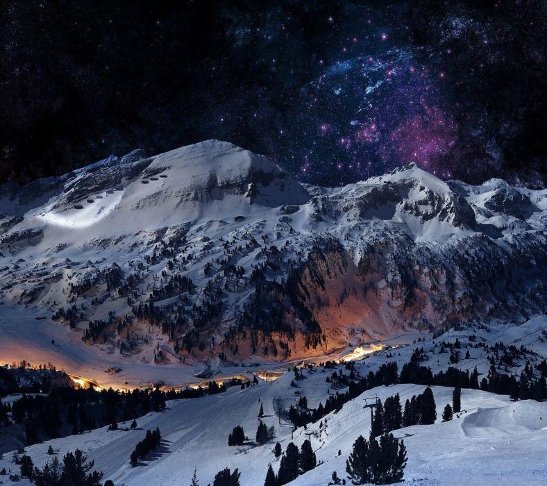 Winter Night-wallpaper-10363585 wallpaper