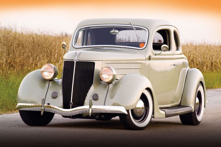 1936 Ford five window coupe custom hot rod hotrod USA 4500x2988 (01) wallpaper