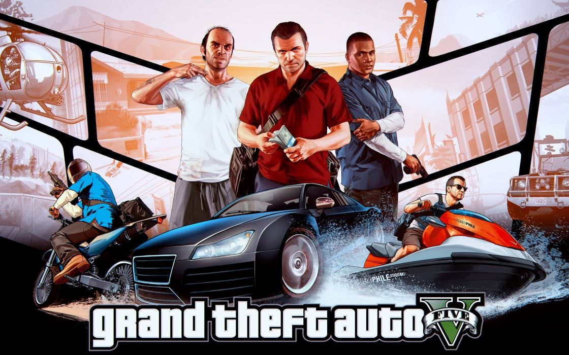 GRAND THEFT AUTO V action adventure rockstar violence crime gta 1gta5 five fighting wallpaper