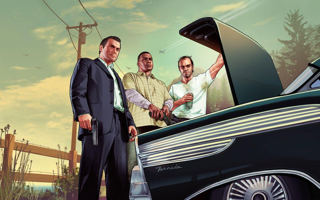GRAND THEFT AUTO V action adventure rockstar violence crime gta 1gta5 five fighting wallpaper