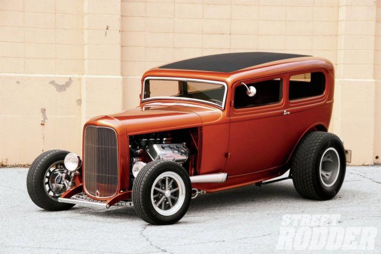 1932 Ford Tudor Sedan Hot Rod ROds Hotrod USA 1500x1000-01 wallpaper