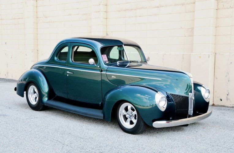 1940 Ford Coupe Hot Rod Rods Hotrod Custom USA 2048x1340-03 wallpaper