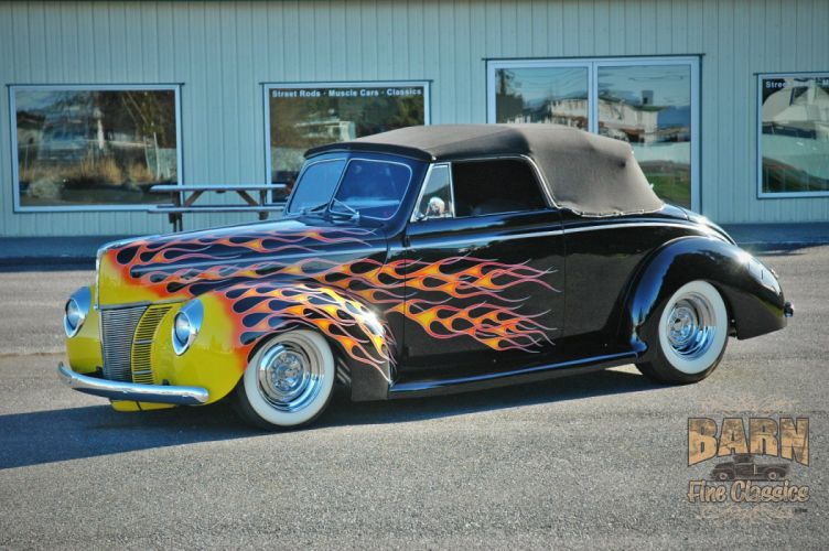 1940 Ford Deluxe Convertible Hot Rod Rods Hotrod Custom USA 1504x1000-01 wallpaper