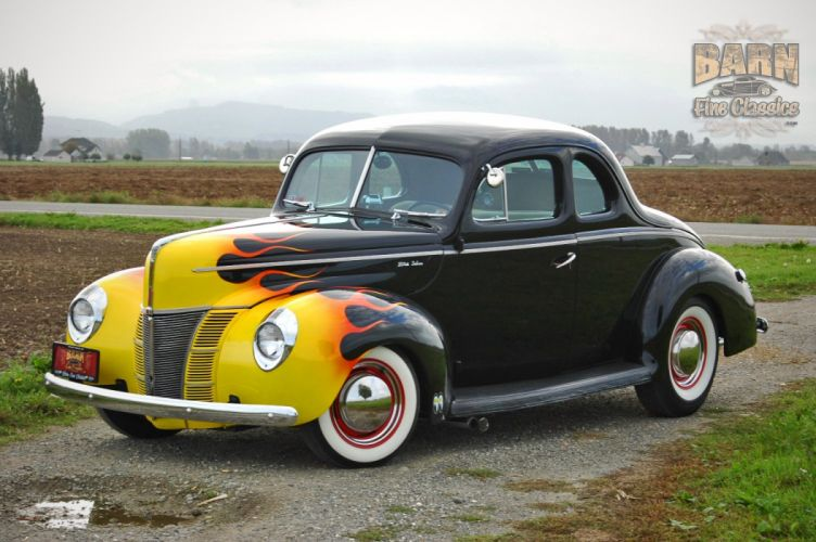 1940 Ford Deluxe Coupe Hot Rod Rods Hotrod Custom USA 1504x1000-03 wallpaper