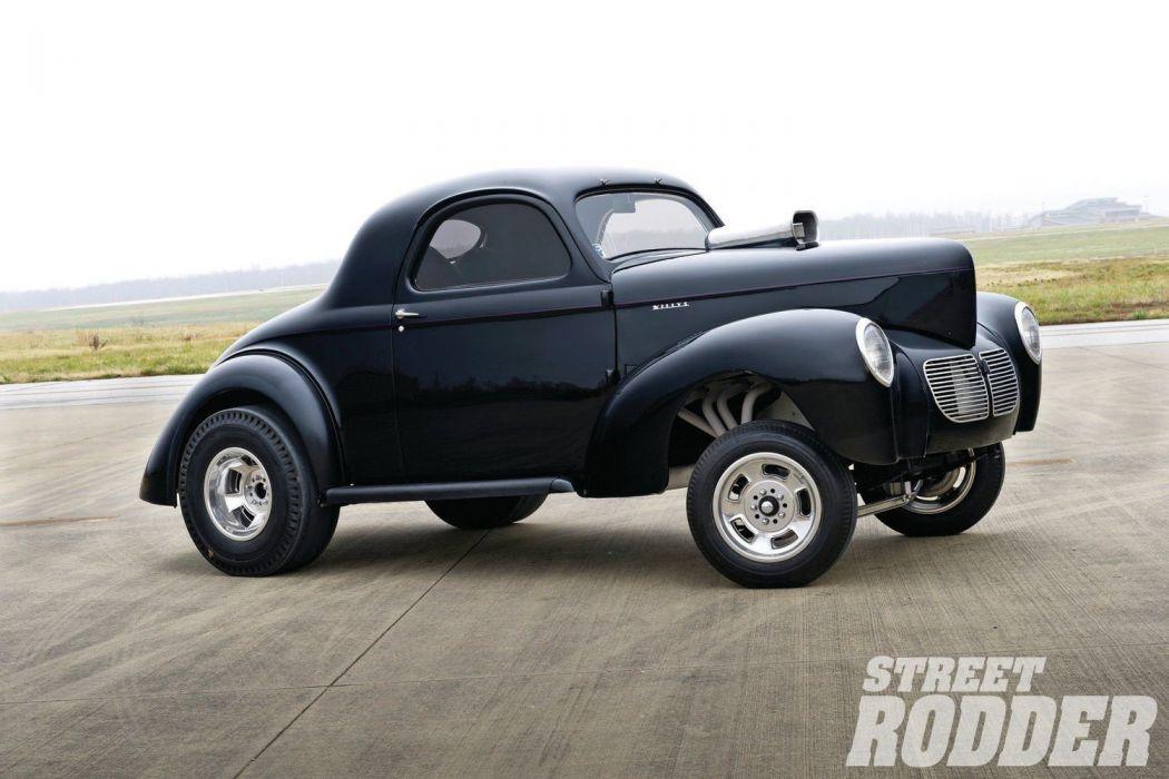 1940 Willys Drag Hot Rod Hotrod Gasser USA 1500x1000-01 wallpaper
