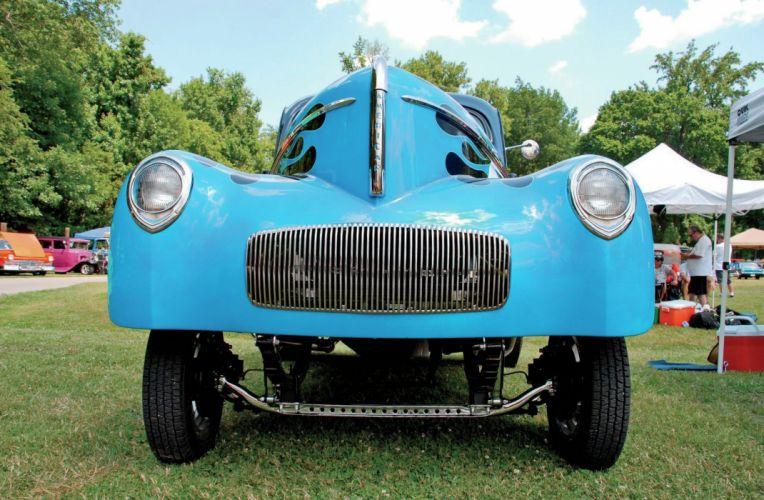 1941 Willys Drag Hot Rod Hotrod Gasser USA 2048x1340-08 wallpaper