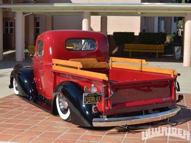 1946 Chevrolet Chevy Pickup Custom Lowrider USA 1600x1200 (01) wallpaper