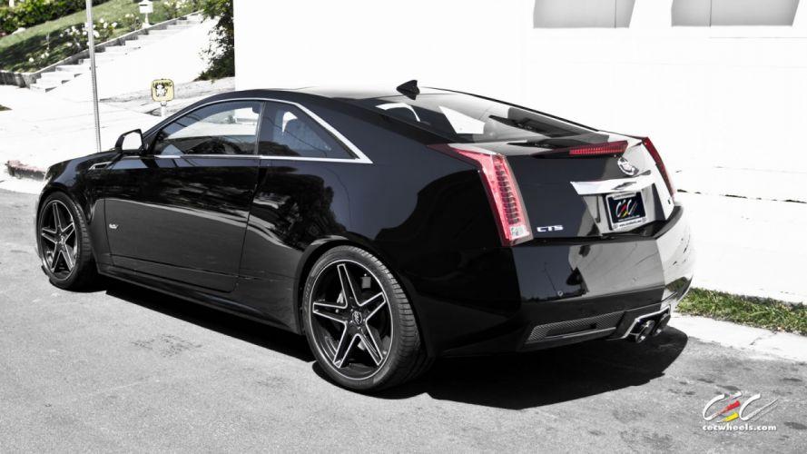 2015 cars CEC Tuning wheels Cadillac CTS-V black wallpaper