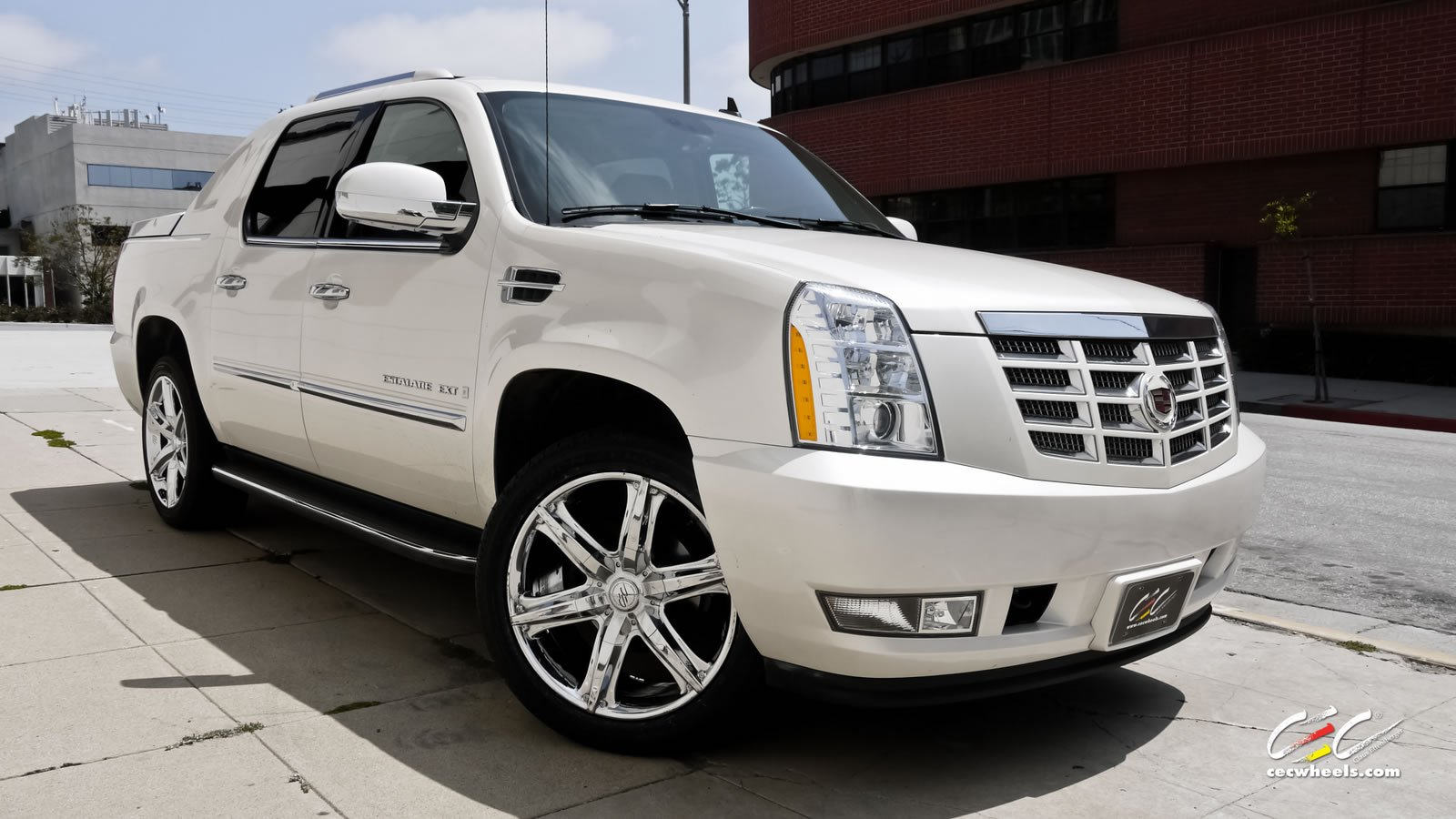 2015 cars cec tuning wheels cadillac escalade ext white suv wallpaper 1600x900 625448. Black Bedroom Furniture Sets. Home Design Ideas