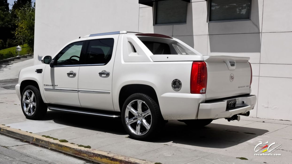 2015 cars CEC Tuning wheels Cadillac Escalade EXT white suv wallpaper