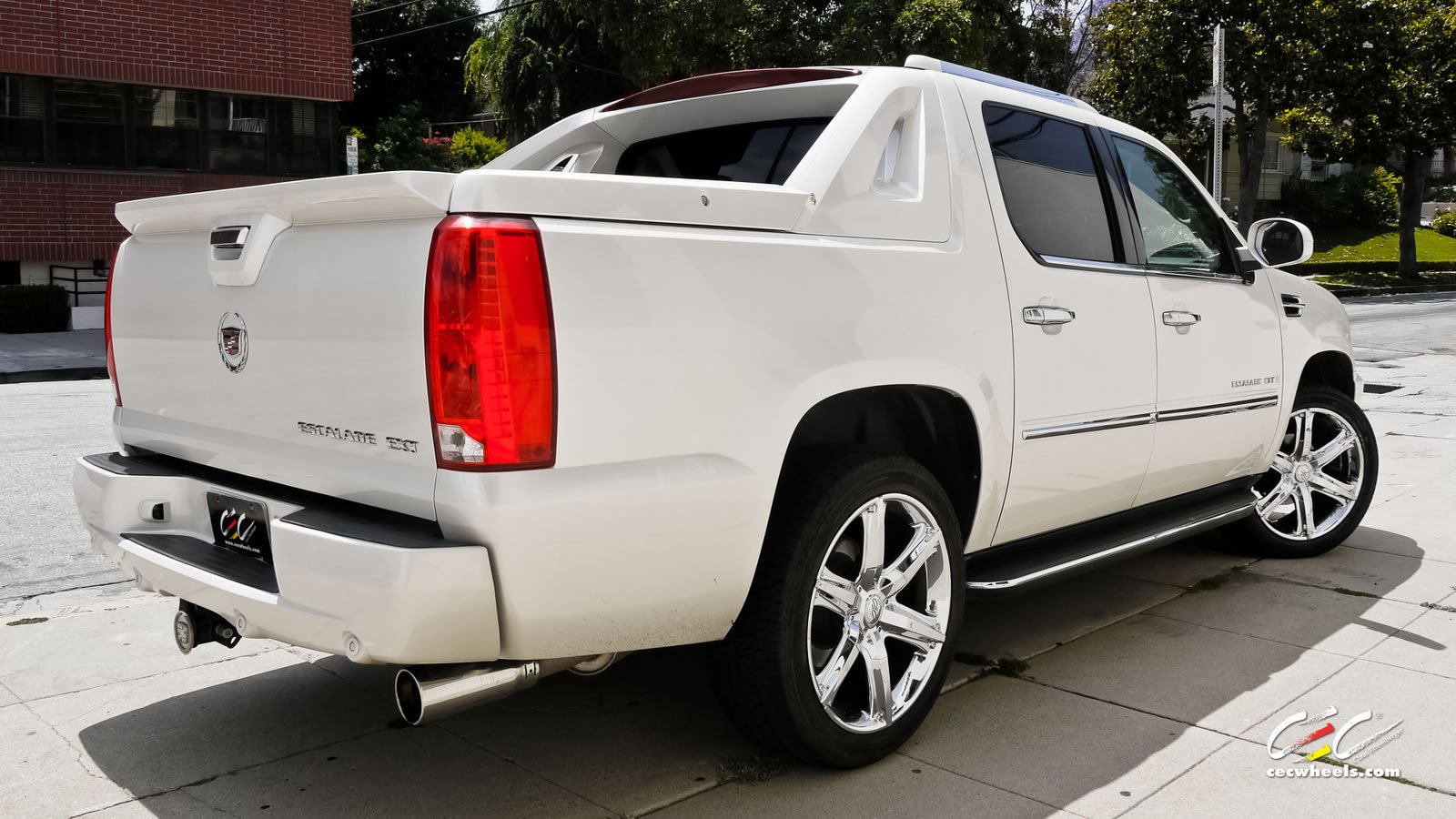2015 cars cec tuning wheels cadillac escalade ext white suv wallpaper 1600x900 625450. Black Bedroom Furniture Sets. Home Design Ideas