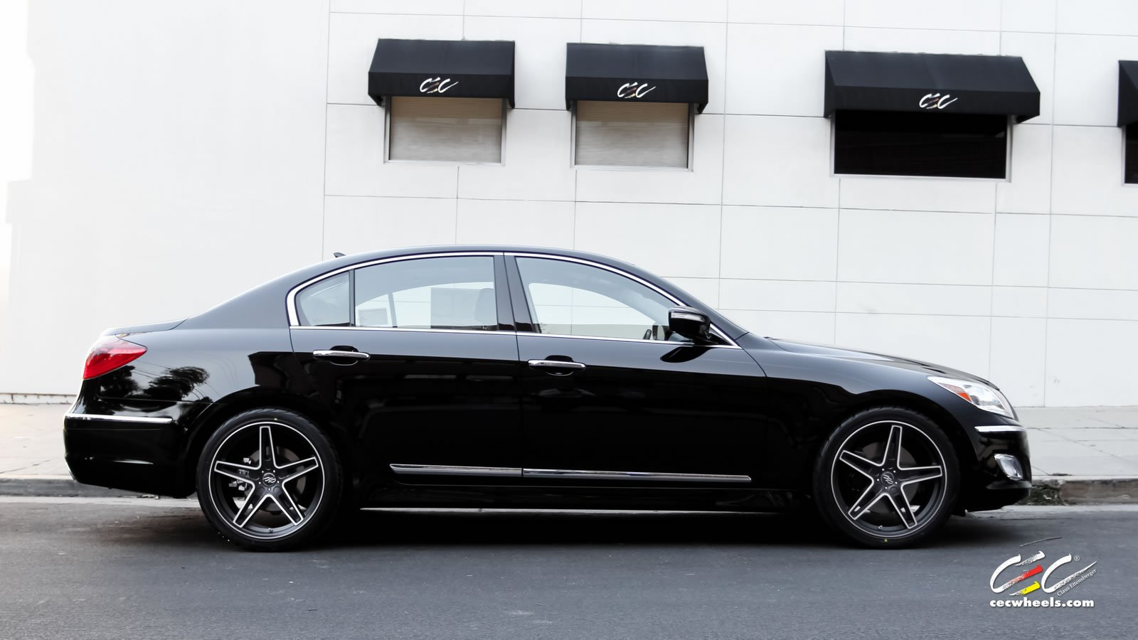 2015 cars cec tuning wheels hyundai genesis sedan black wallpaper 1600x900 625480 wallpaperup