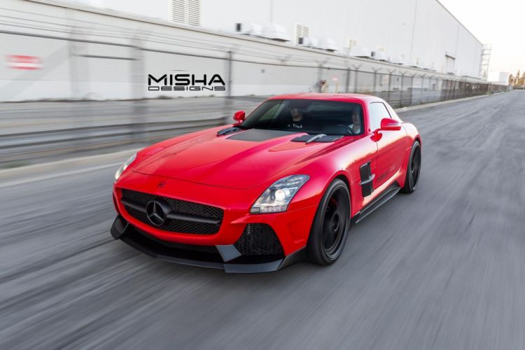 Mercedes Benz SLS AMG bodykit Misha Designs cars tuning coupe wallpaper