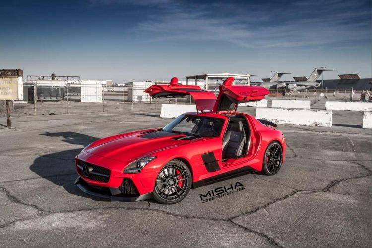 Mercedes Benz SLS AMG bodykit Misha Designs cars tuning coupe wallpaper