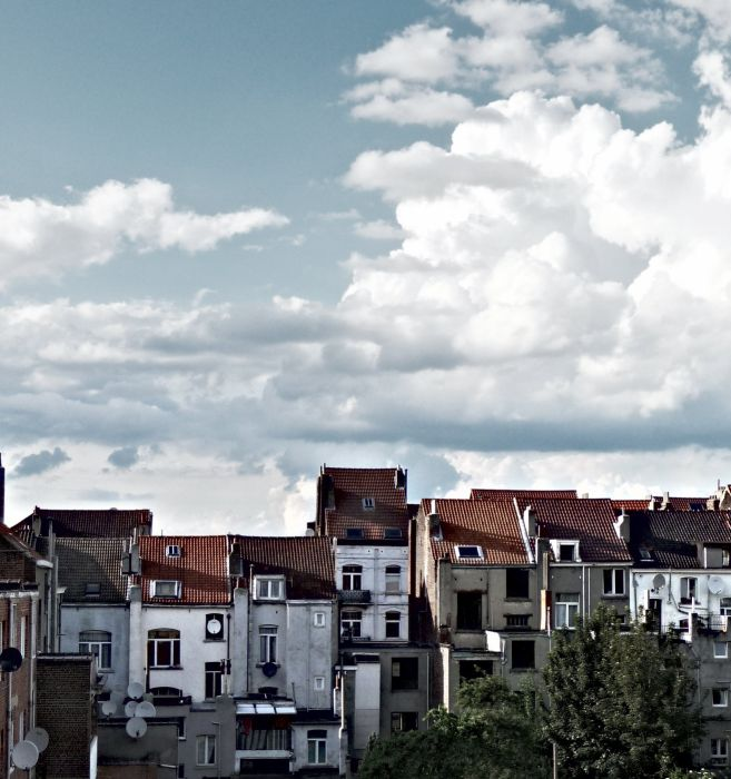 roofs city sky wallpaper
