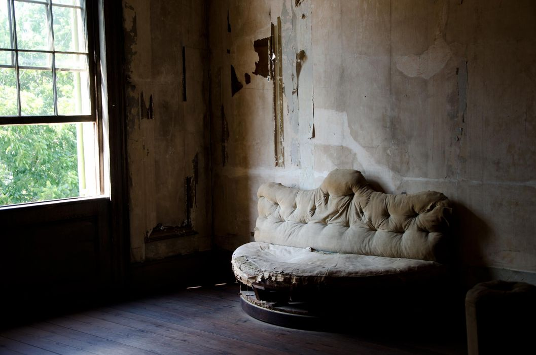 abandoned couch wallpaper