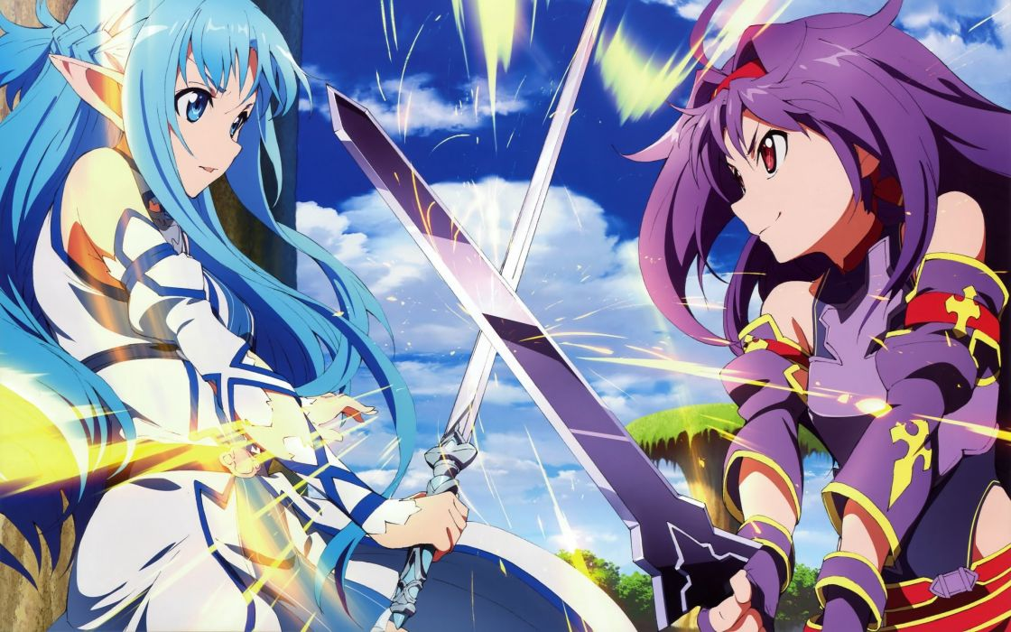 SWORD ART ONLINE II animation fighting sci-fi japanese anime 1saoll fantasy warrior wallpaper