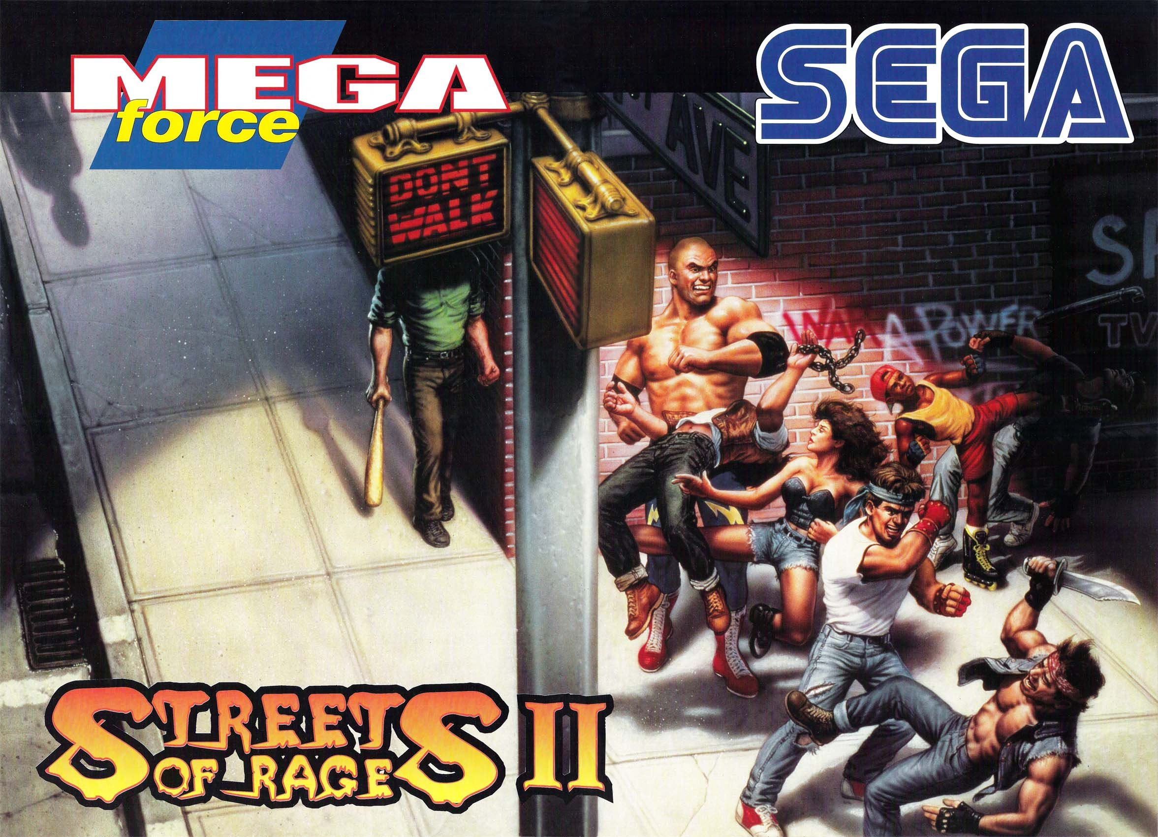 Streets Of Rage Ikari No Tekken Action Fighting Arena Scrolling
