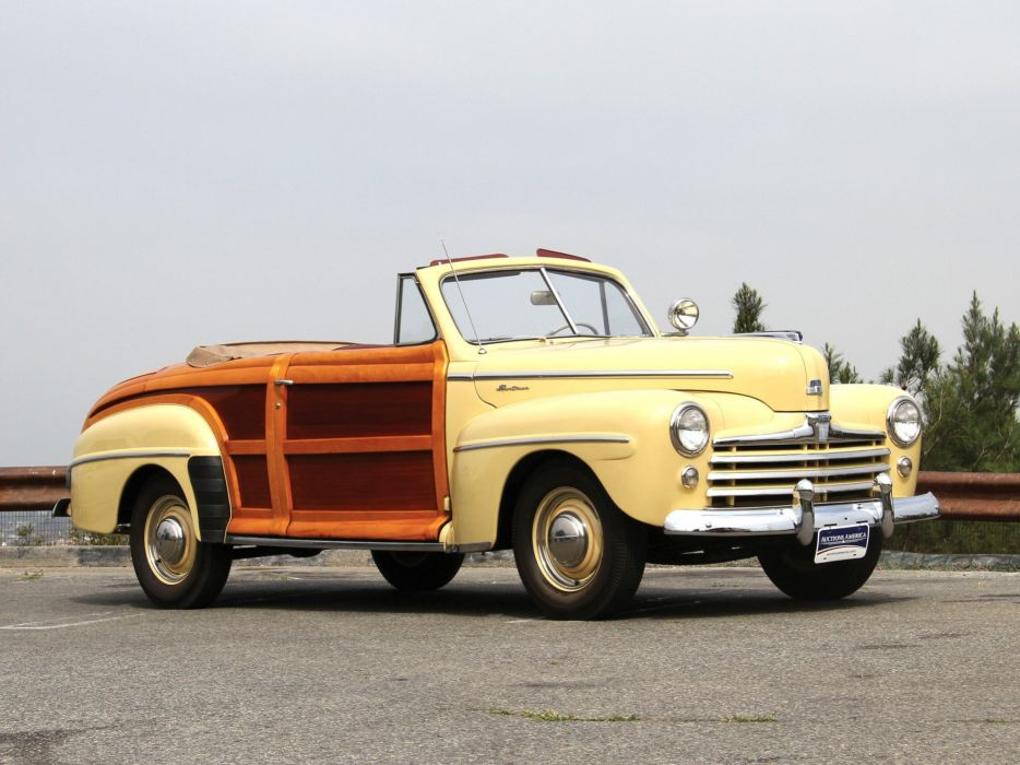 1948 Ford Super Deluxe Sportsman Convertible classic cars wallpaper