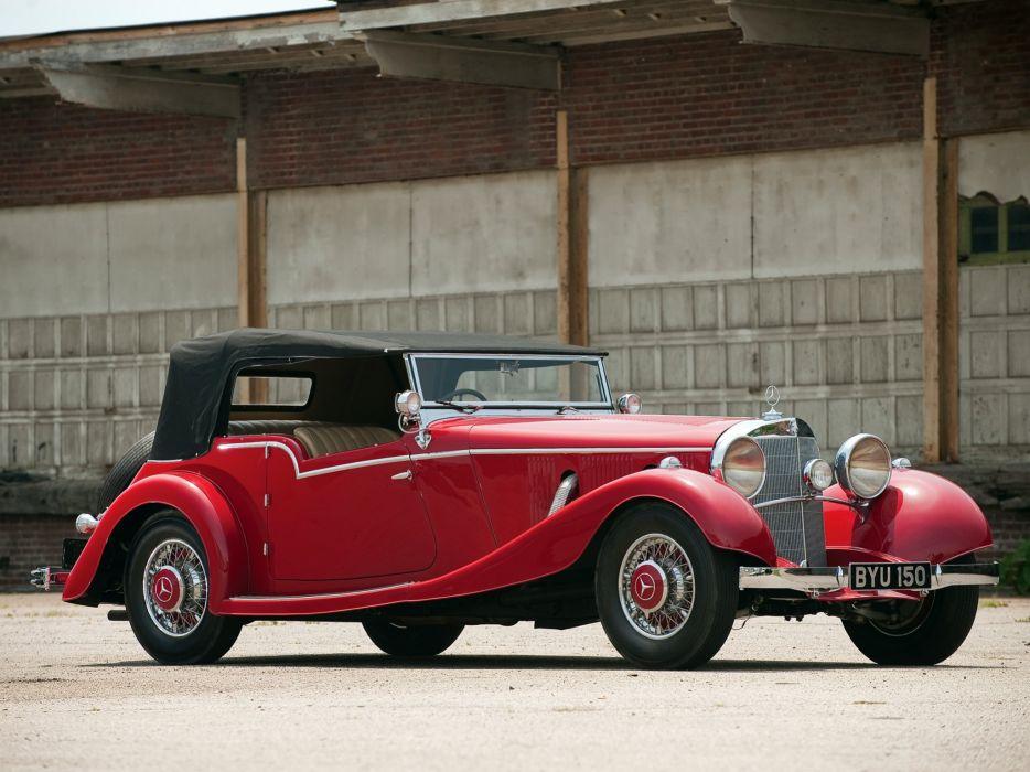 Mercedes Benz 500K Tourer by Mayfair 1934 classic cars wallpaper