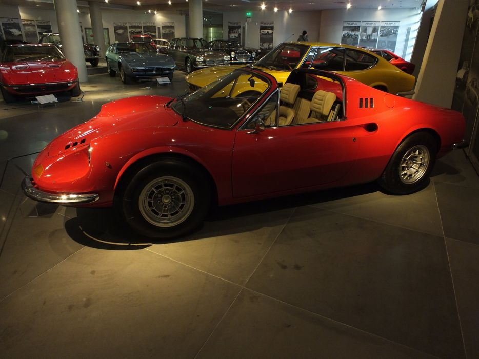 1974 Fiat DINO Ferrari 246 gts Supercar supercars classic Hellenic Motor Museum wallpaper