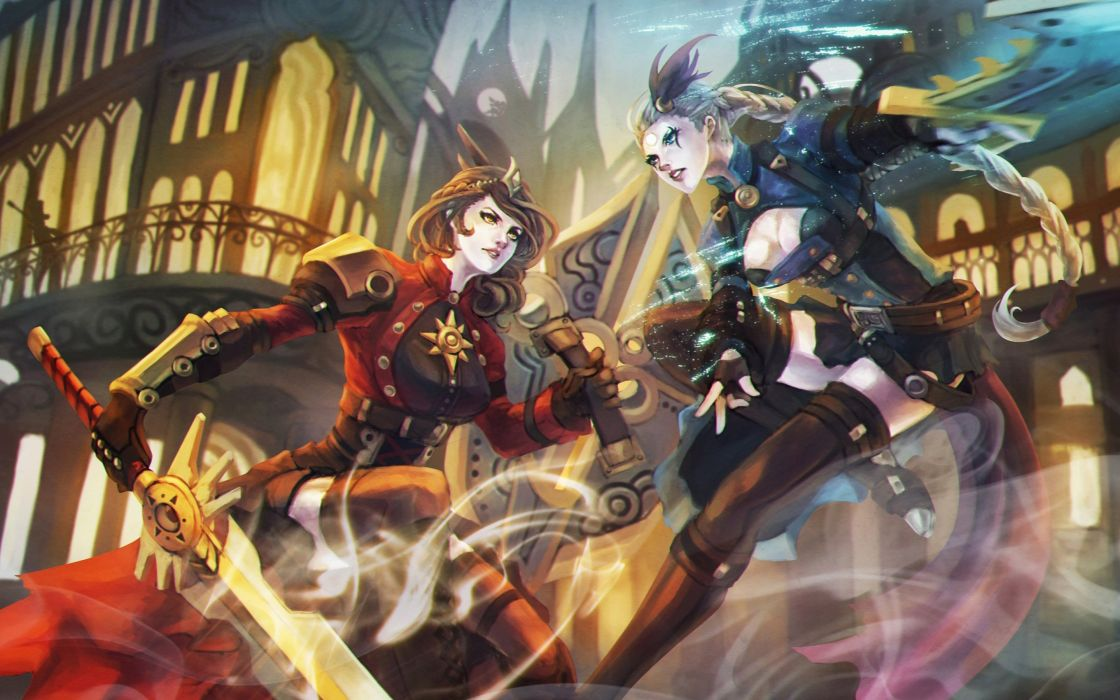 LEAGUE Of LEGENDS lol fantasy online mmo rpg fighting arena warrior wallpaper