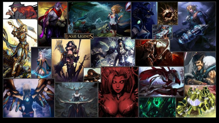 LEAGUE Of LEGENDS lol fantasy online mmo rpg fighting arena warrior game wallpaper