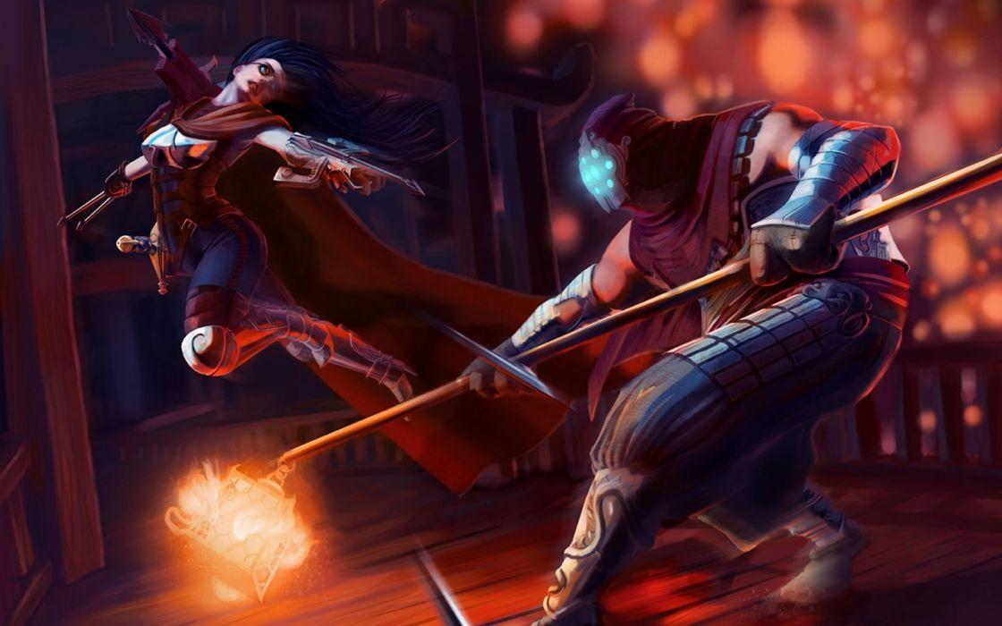 LEAGUE Of LEGENDS lol fantasy online mmo rpg fighting arena warrior game wallpaper